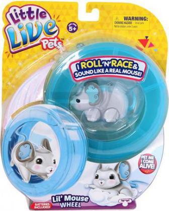 Іграшка інтерактивна Moose Little Live Pets Мишеня Чудові Крила з колесом 28193