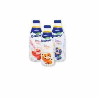 Скидка 24% ▷ Йогурт питьевой 1,5% Живинка 850 г