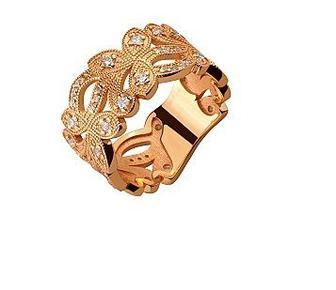 Золотое кольцо с фианитами Артикул 15-000104556