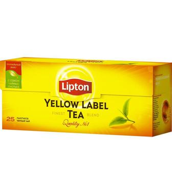 Чай чорний байховий Ліптон 25 пак