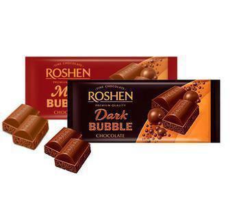 Шоколад Roshen Экстрачерный ,Молочний пористый 85 г