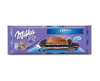 Шоколад молочний зі шматочками печива Oreo, Milka, 300 г