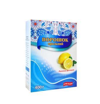 ПОРОШОК для прання Лимонна фантазія ручне прання, 400 г ГЛЯНЦ