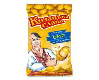 Арахіс «Козацька слава» в хрусткій оболонці смак сиру, 55г