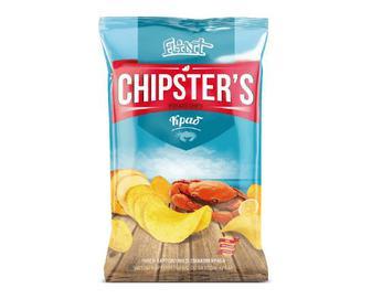 Чипси Flint Chipster's натуральні зі смаком краба, 70г