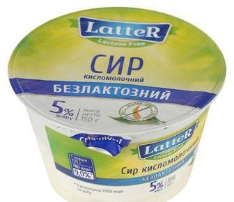 Сир кисломолочний 5%, LATTER, 150г
