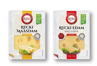 Сир напівтвердий «Едам»/ «Маасдам» пластинками, 45% Ryki 135г