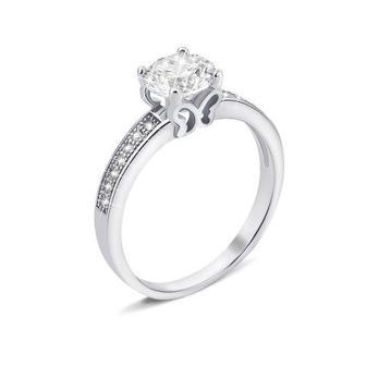 Серебряное кольцо с фианитами (1RI56866-R)