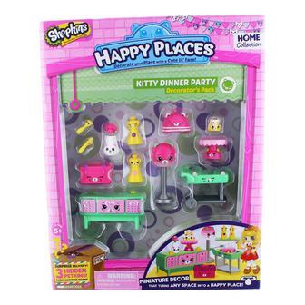 Игровой набор Shopkins Happy Places Petkins Праздничный ужин у котят