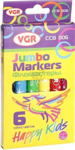 Фломастери Jumbo 6 шт. CCB-006 VGR