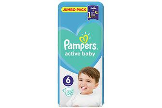 Підгузки Pampers Active Baby Extra Large 13-18 кг, 52 шт./уп.
