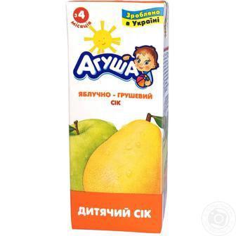 Сік дитячий Агуша 0,2л