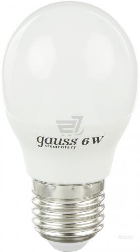 Лампа світлодіодна Gauss 53216 6 Вт G45 матова E27 220 В 2700 К Elementary шар 6W SM