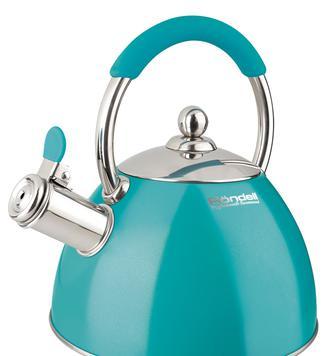 Чайник Rondell Turquoise со свистком 2 л
