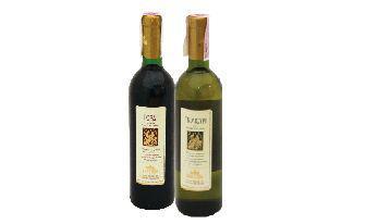 Вино напівсухе Горді червоне, Тбілісурі біле  Вардіані, 0,75 л