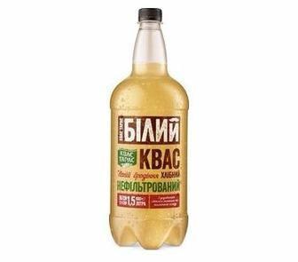 Квас хлібний  Квас Тарас Білий 1.5 л