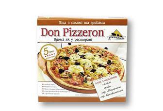 Піца Don Pizzeron з салямі та грибами Три Ведмеді 350 г