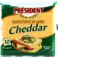 Сир плавлений President Cheddar, для тостів, 40%, 120г