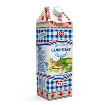 Молоко 2,5% Особливе Родинне Селянське 1,5л