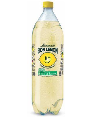 Напій лимонад лайм і бузина, лимон і малина Bon Lemon 2л