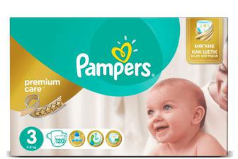 Підгузки Pampers Premium Care Mega Pack Midi, 120 шт./уп