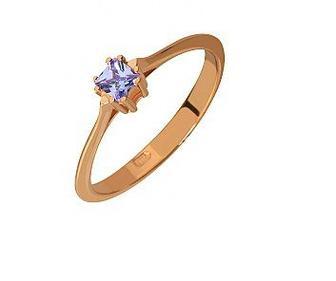 Золотое кольцо с фианитом Артикул 15-000071789