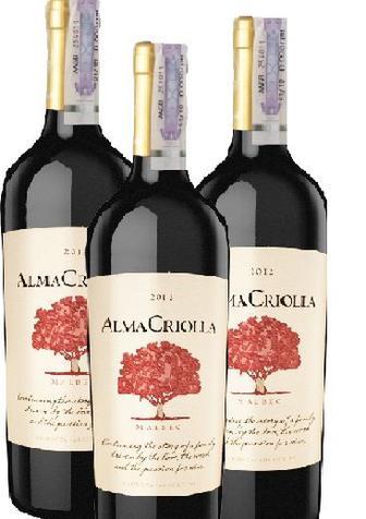 Вино красное сухое Alma Criolla Malbec Varietal 0.75л
