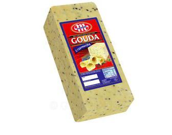 Сыр твердый сычужный Гауда с семенами черного тмина Млековіта 100 г