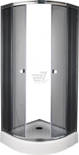 Душова кабіна EGO Quadrant Fine 80x80 профіль хром,скло графіт