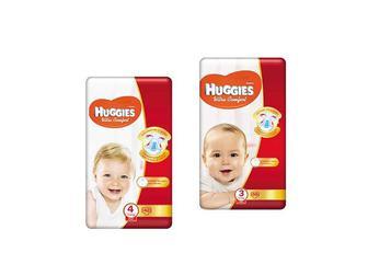 Підгузники Ultra Comfort (3) 4-9 кг/ Ultra Comfort (4) 7-14 кг, дитячі Huggies 50 шт./42 шт.