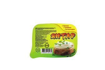 Продукт молоковмісний сирний плавлений, пастоподібний, 60% Янтар 180 г