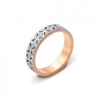 Обручальное кольцо с фианитами. Артикул 10131/1