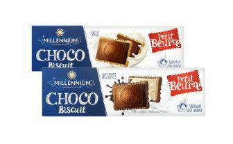 Печиво Чоко Бісквіт молочне, асорті Міленіум 130 г