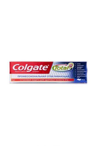 Зубная паста Colgate Тотал12 Профессиональная Отбеливающая 75мл