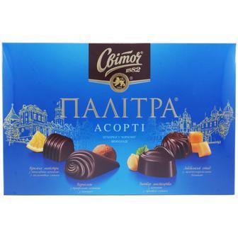 Конфеты Свиточ Палитра Ассорти в черном шоколаде 200 г