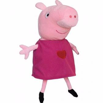 М'яка іграшка Пеппа з вишитим серцем 30 см