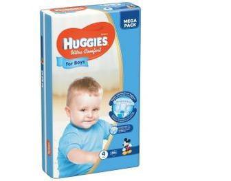 Підгузки Huggies Ultra Comfort Для Хлопчиків або дівчаток Розмір 4 (7-16 КГ) 66 шт