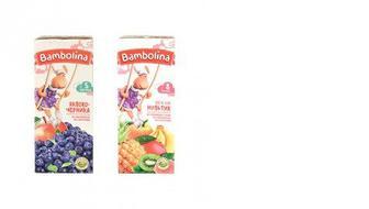 Детские соки и нектары, Bambolina, 200мл