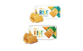 Печиво Райс цільнозернове з ароматом імбиру, рисове з кокосом Рошен 118 г
