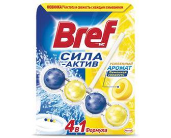 Засіб для туалету Bref Сила Актив «Лимонна свіжість» 50г
