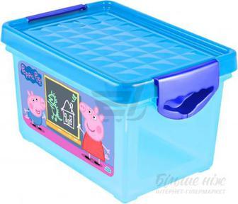 Скриня для зберігання Little Angel Я росту Свинка Пеппа блакитний LA0052РРГЛ