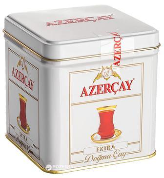 Чай черный среднелистовой Azerçay Extra в жестяной банке 100 г