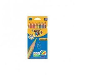 Набор цветных карандашей, 12 шт, KIDS TROPICOLORS,BIC