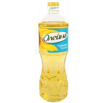 Олія соняшникова рафінована Олейна Традиційна 0,85 л