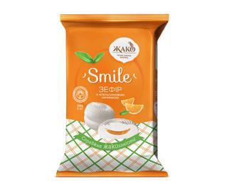 Зефір «Жако» Smile з апельсиновою начинкою, 300г