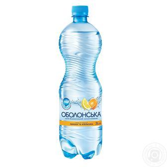 Вода сильногазированная Оболонская со вкусом апельсина и лимона, 2л