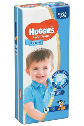 Скидка 25% ▷ Подгузники Huggies Ultra Comfort для мальчиков р5 12-22 кг 56 шт