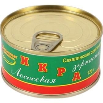 Ікра Сахалінка лососева зерниста червона 100г