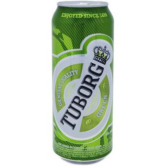 Скидка 34% ▷ Пиво світле Tuborg Green Tuborg 0,5 л