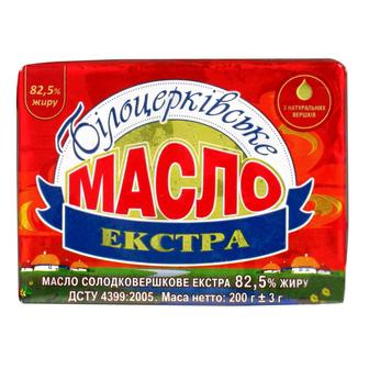 Масло экстра 82.5%, Белоцерковское, 200г